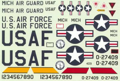 48-2 DECAL F-84F, 191TRG,127 TRG