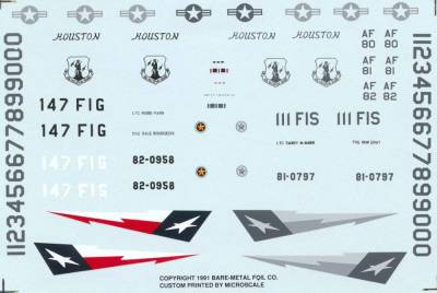48-30 DECAL F-16 TEXAS ANG