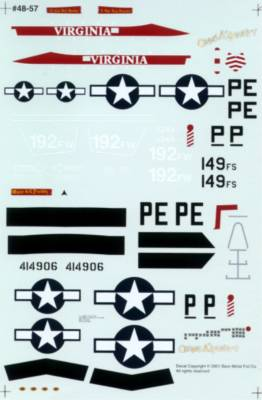 48-57 F-16C VIRGINIA 328 FS PAINTED LIKE ACE GEORGE PREDDY'S P-51D