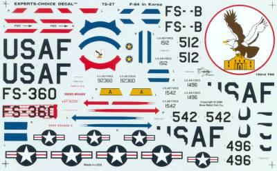 72-27 F-84 E/G ANG THUNDERJETS KOREA 1951/52